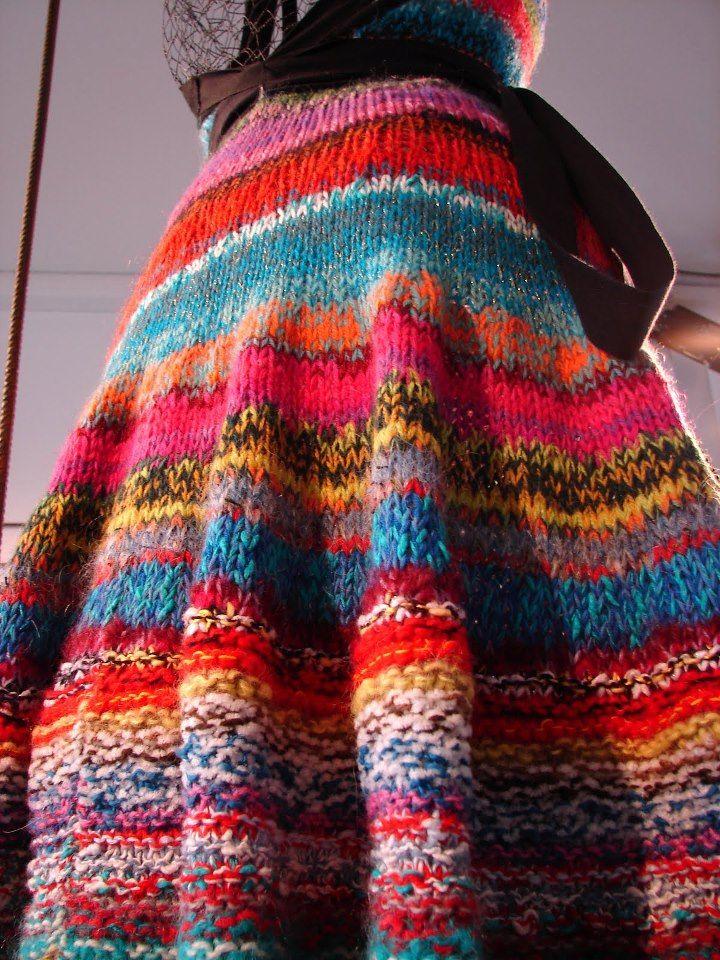 Amazing knitted skirt by Koigu