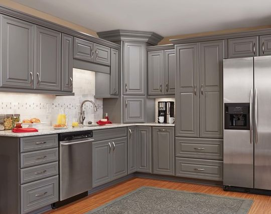 2 x 4 kitchen cabinets gray cabinets from mid continent cabinetry kitchens 10116