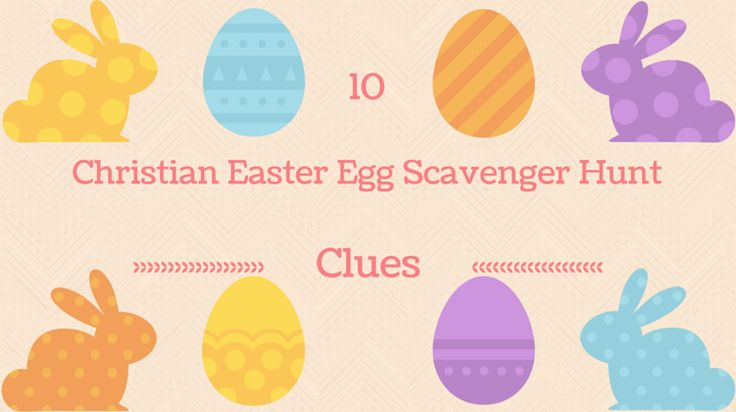 If you need ideas for a Christian Easter scavenger hunt, here's a list of 10 clues you can use - also includes a free printable worksheet