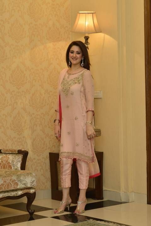 cream Indian trouser suit with red trouser - Google Search