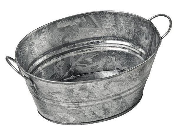 Metall-Wanne oval