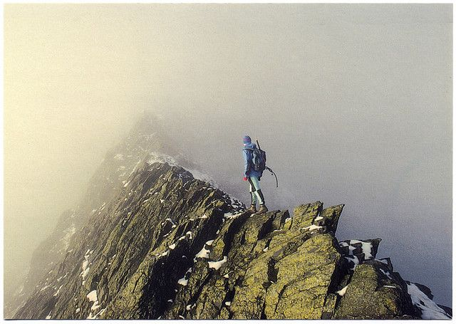 sharp edge Blencathra - did it in similar weather, not for the faint hearted!
