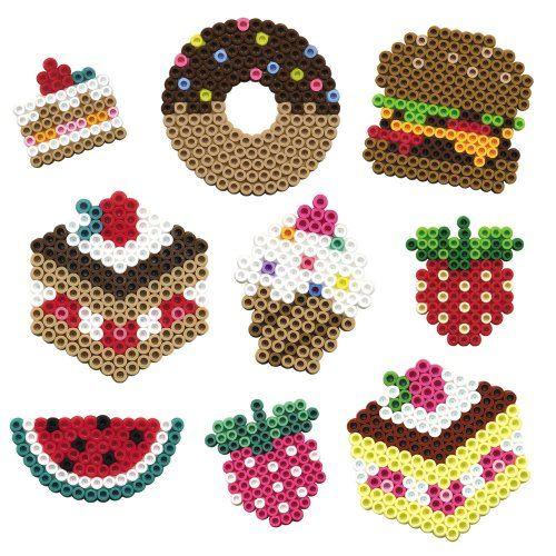 Food hama perler beads - perles à repasser : http://www.creactivites.com/229-perles-a-repasser