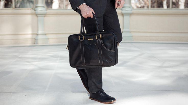 Merikh, Bag, Men, Black, Leather,
