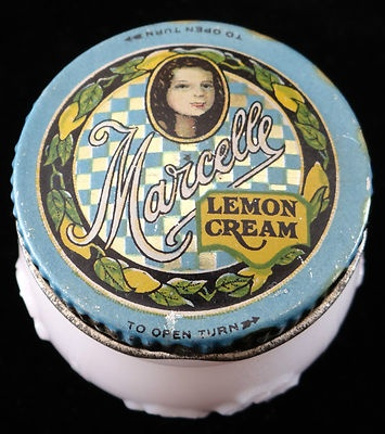 Antique 1920's Cold Cream Jar Marcelle Great Tin Litho Graphics | eBay