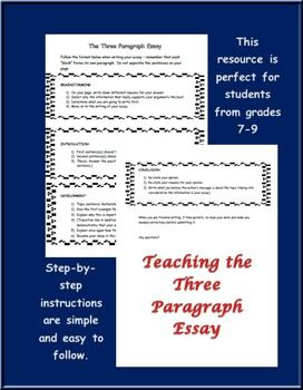 Three step essay instructions