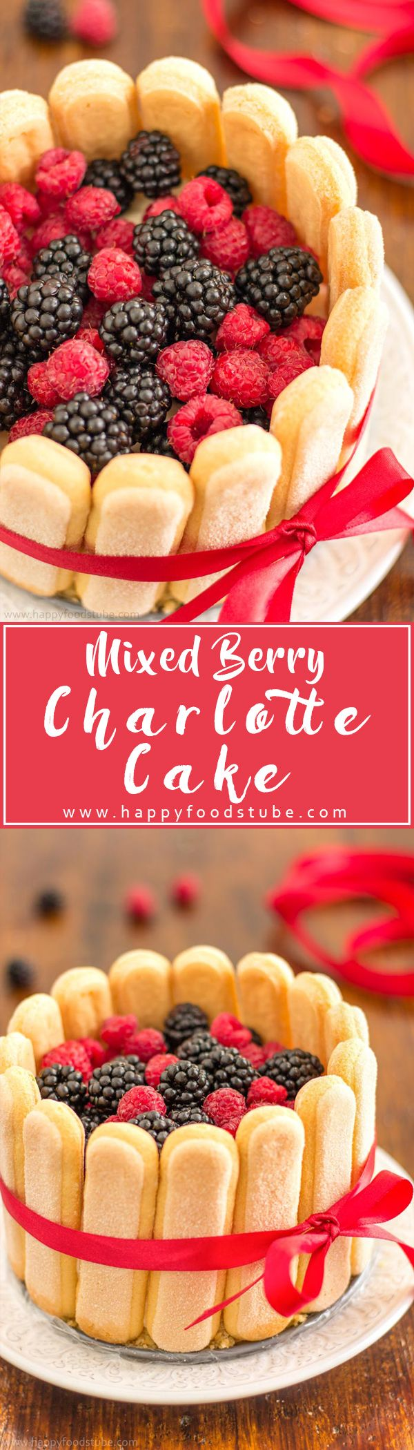 No Bake Mixed Berry Charlotte Cake will definitely satisfy your taste buds! Base…