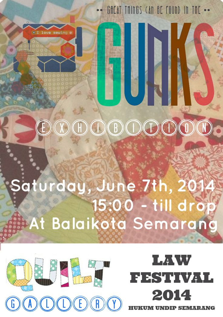 Gunks Exhibition Poster at Balaikota Semarang, Saturday june 7th