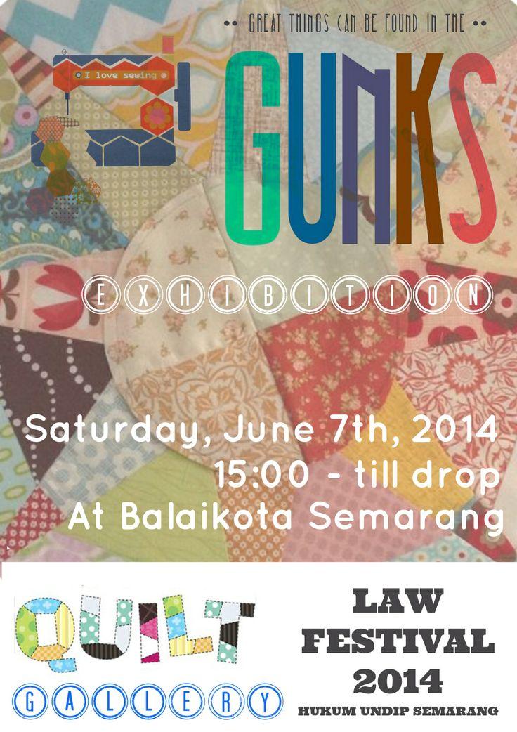Gunks Exhibition Poster at Balaikota Semarang, Saturday june 7th