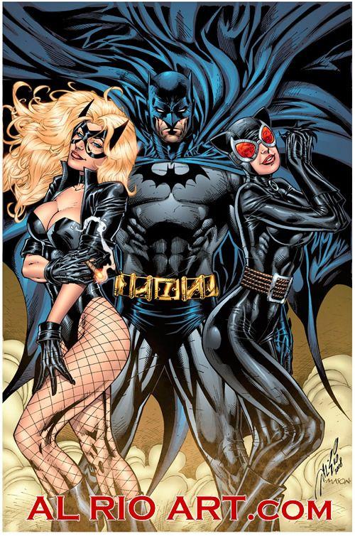 Black Canary, Batman and Catwoman by Al Rio//Al Rio/R/ Comic Art Community GALLERY OF COMIC ART