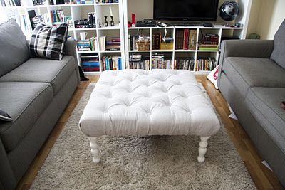 Not an easy project, but the savings and results are so worth it!Job Jenny, Coffe Tables, Crafty Dafti, Amazing Projects, Coffee Tables, Crafts Ideas, Diy Tufted Ottoman, Disney Princesses, Sofas Beds