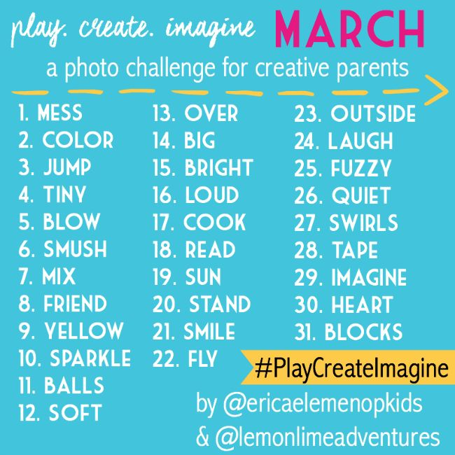 Looking for a fun instagram photo challenge for March? Create a game like this for the students. Each day they have to capture a picture of something that represents each of the words on a list!