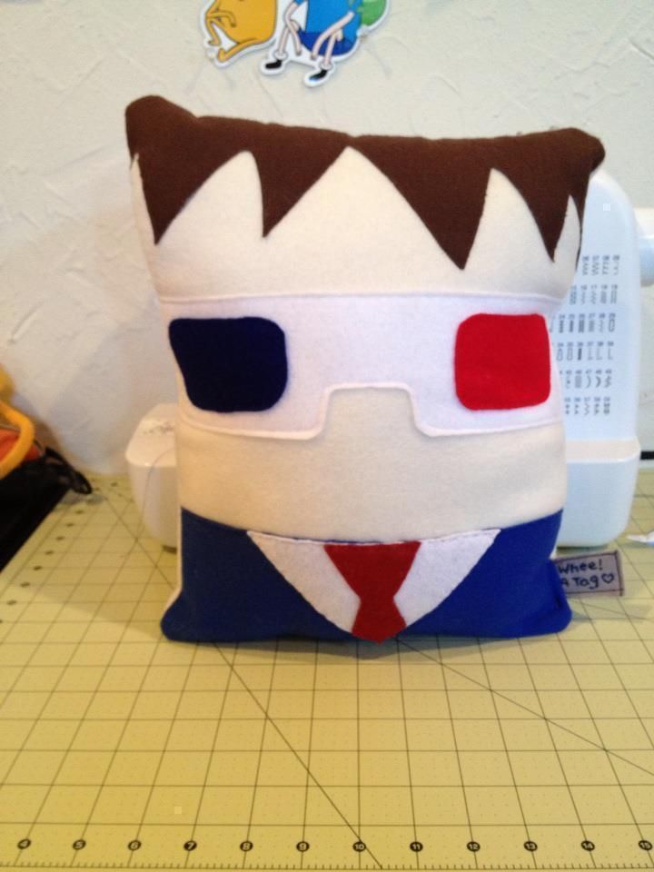 The 10th Dr (Who) Pillow!