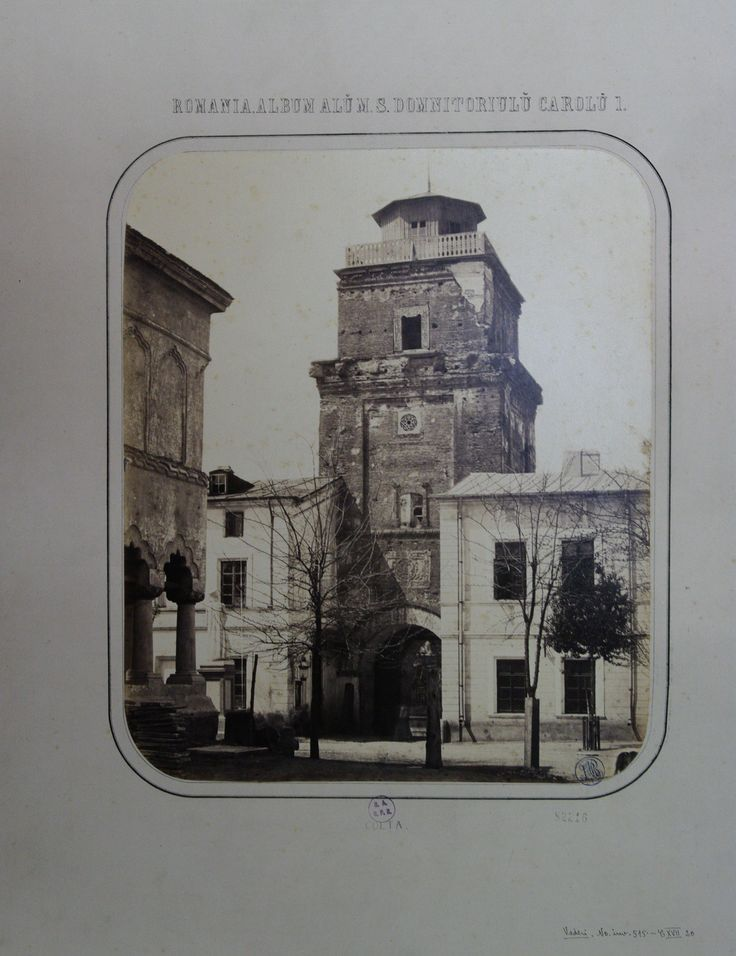 Carol Popp de Szathmary - Coltea (Colta) Tower - nowadays demolished - in 1867