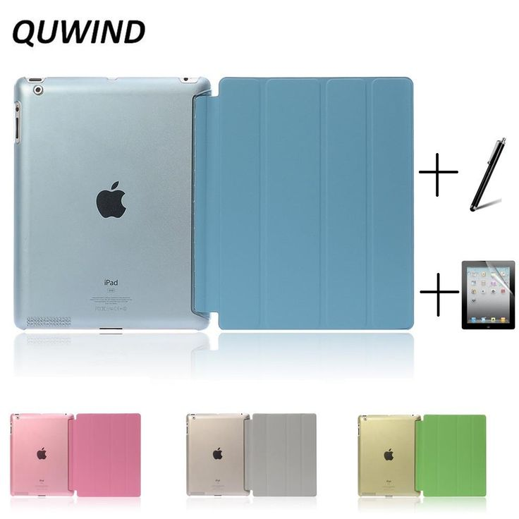 Ultra Slim Four Fold PU Leather Case Cover for iPad 2 iPad 3 iPad 4 Mini 1 2 3