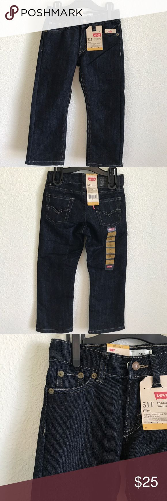 LEVI'S 511 SLIM FIT JEANS NWT Levi's 511 Slim Fit Jeans with Adjustable Waistband - Slightly tapered leg. Size 3T Levi's Bottoms Jeans