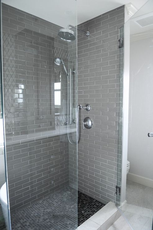 Grey Shower Surround, Contemporary, bathroom, Enviable