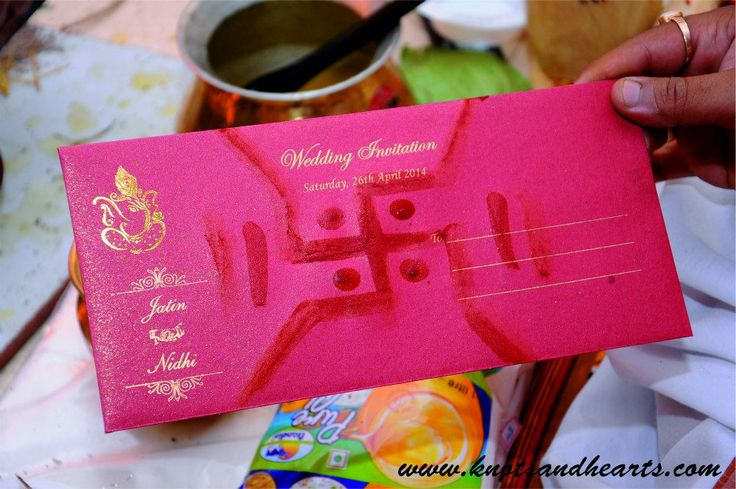 #knotsandhearts | Jatin & Nidhi | Blessing the Wedding Invite... #Sindhi # Wedding