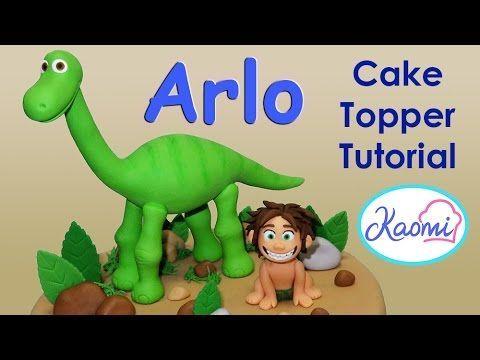 Kaomi Tutoriales: Un Gran Dinosaurio, figuras para torta / The Good Dinosaur, Cake Toppers