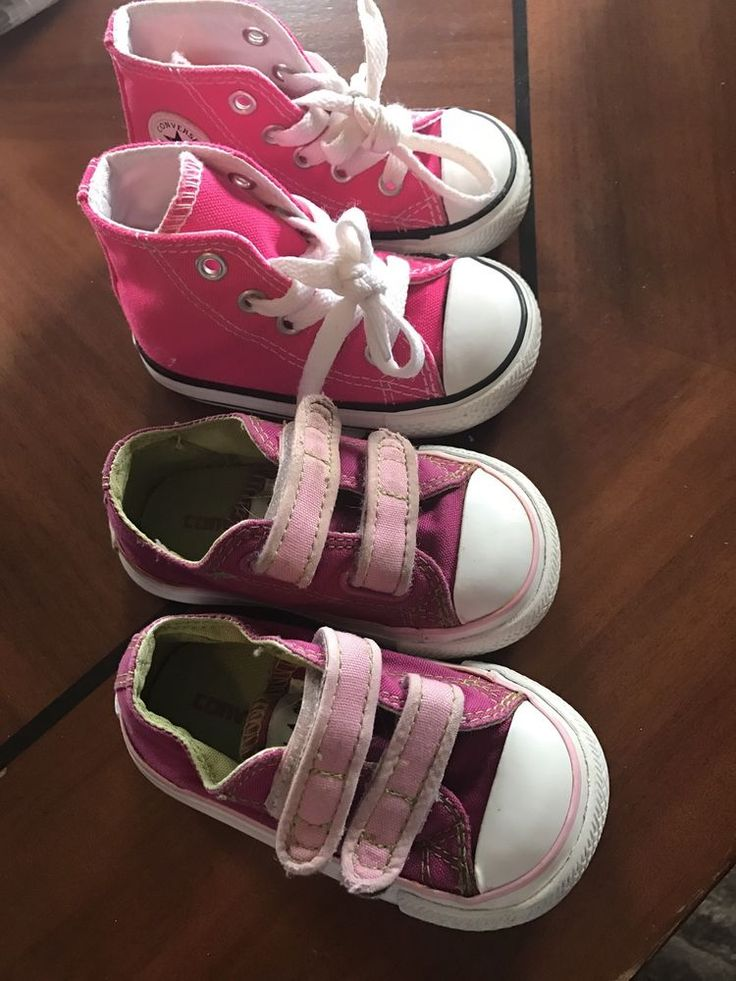 Converse hot light pink hightops Size 4 toddler girl baby infant sneakers shoes #Converse #hightophoopandfasteners