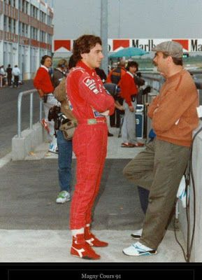 Ayrton Senna: Ayrton Senna Fotos / Mansell [campeão da Fórmula 1] e Ayrton Senna