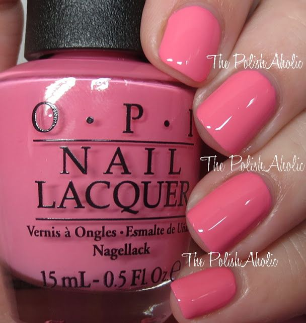 OPI Summer 2016 Retro Summer Collection Flip Flops & Crop Tops is a medium pink creme. The formula was really nice, it was a great consistency and applied nicely with good opacity.
