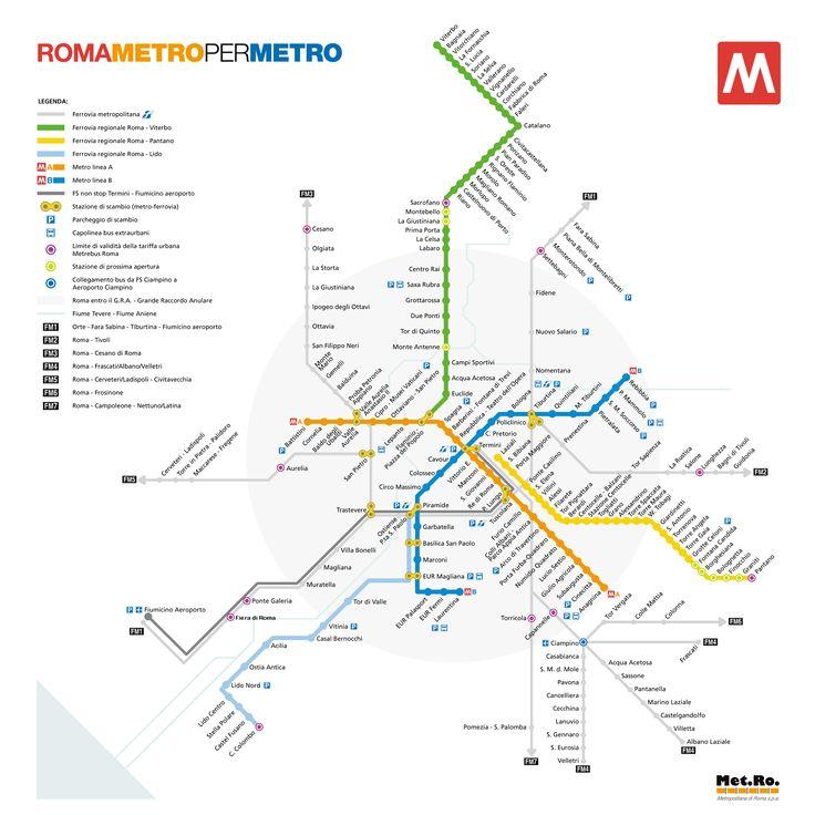 Metro de Roma - Precio, líneas, horario y mapa del metro de Roma
