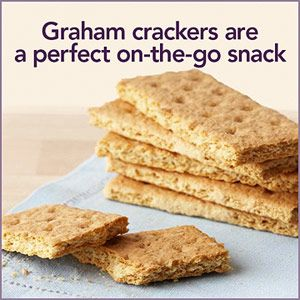 Graham Crackers They're not just for kids! Graham crackers are convenient, portable, and offer that oh-so appealing crunch. Grab three graham cracker squares to get 15-20 g of carbs.