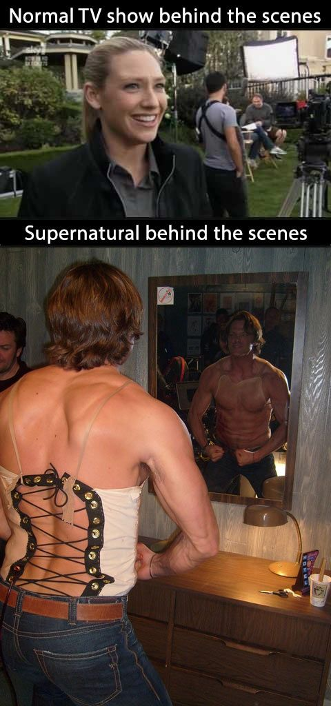 Meanwhile on the set of Supernatural…