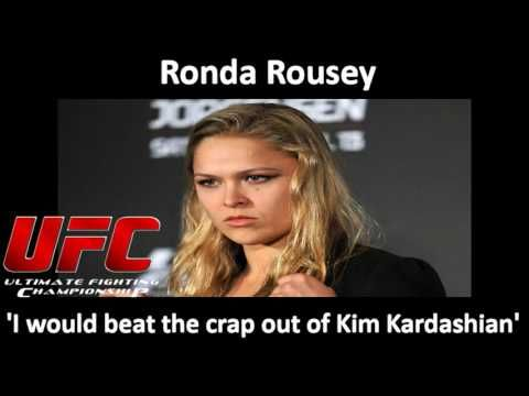 UFC: Ronda Rousey 'I would beat the crap out of Kim Kardashian'