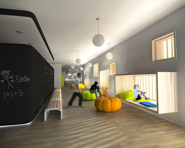 Modern educational coplex pinterest kindergarten for Interior and exterior design schools