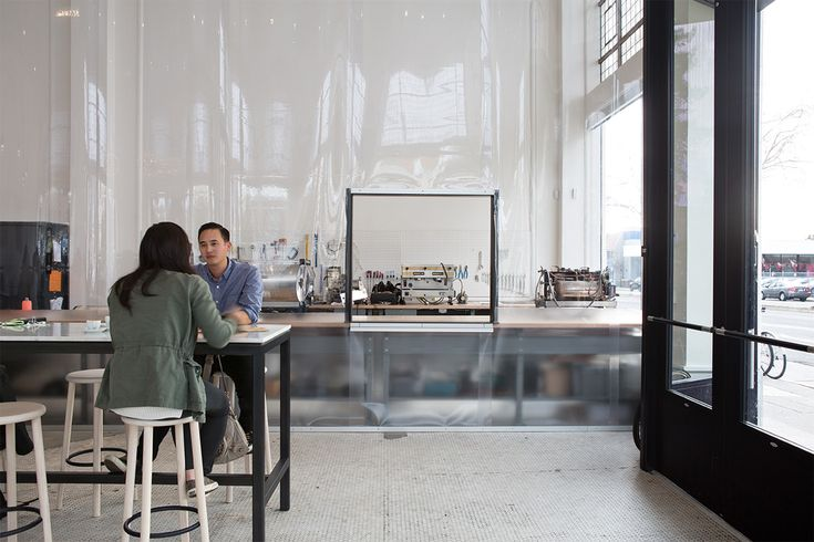 Jensen Architects Converts Automobile Showroom Into Blue Bottle Coffee