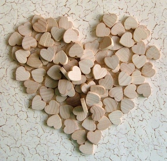 little wooden hearts