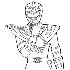 The Green Ranger Coloring Page em 2020 | Pawer rangers ...