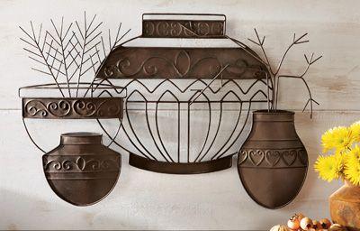 Southwest Pots 3D Metal Wall Decor
