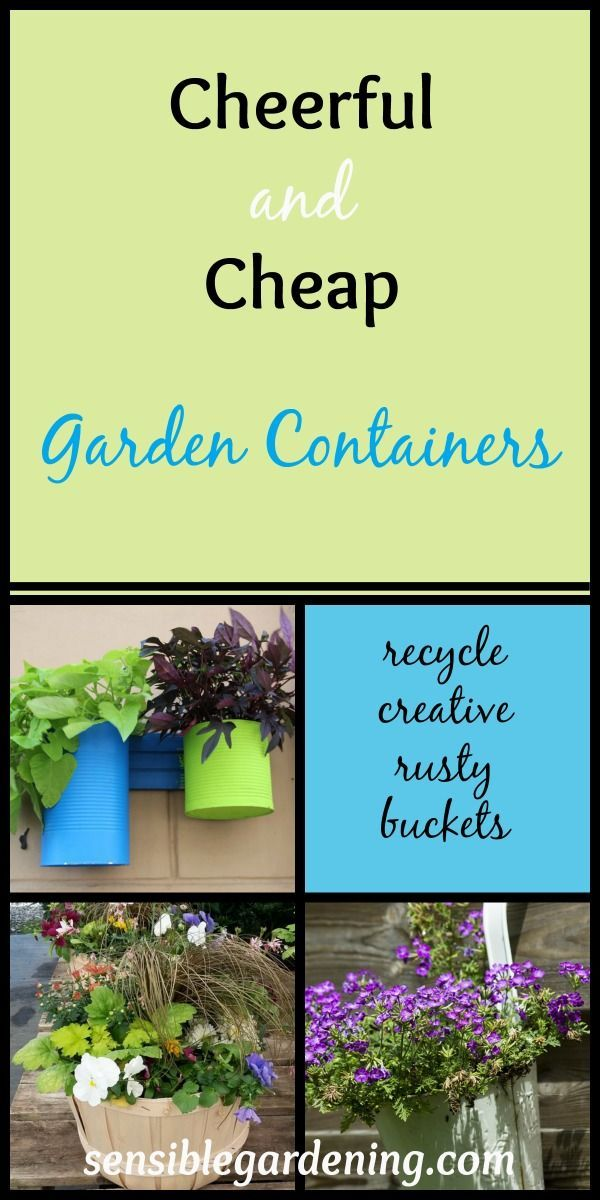 Awesome Cheerful And Cheap Garden Containers With Sensible Gardening. Recycle, Go  Junking, Get Out