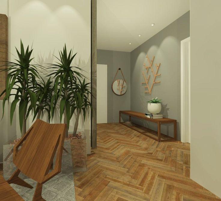 Retrofit Apto Vila Rica. Objetos de madeira trazem um charme todo especial para o hall desse apartamento da década de 50 em Blumenau. @giselemilchert @danielasarmento @terraarquitetura