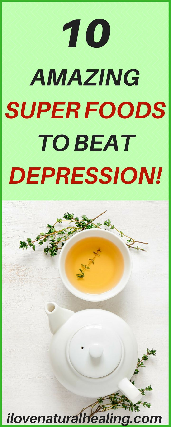"More than just a bout of the blues, depression isn't a weakness and you can't simply ""snap out"" of it. Depression may require long-term treatment. But don't get discouraged. Here are 10 Amazing Super Foods to Beat Depression!"