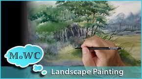 "Aquarell Landschaft Geschwindigkeit Gemälde ""Wood's Edge"""