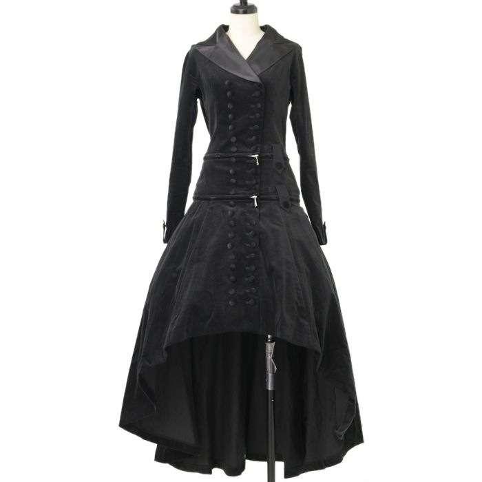 ♡ alice auaa ♡ Velveteen hooded long coat   http://www.wunderwelt.jp/products/detail12064.html ☆ · .. · ° ☆ How to order ☆ · .. · ° ☆ http://www.wunderwelt.jp/user_data/shoppingguide-eng ☆ · .. · ☆ Japanese Vintage Lolita clothing shop Wunderwelt ☆ · .. · ☆
