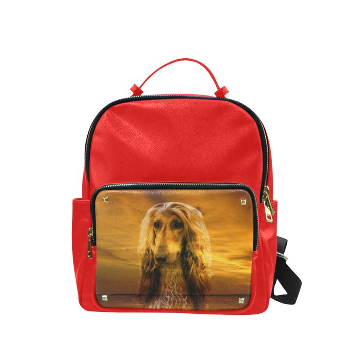 Dog Afghan Hound Campus backpack/Large (Model 1650)