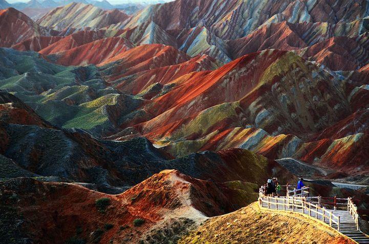 Colorful Rock Formations in China - Zhangye Danxia Landform