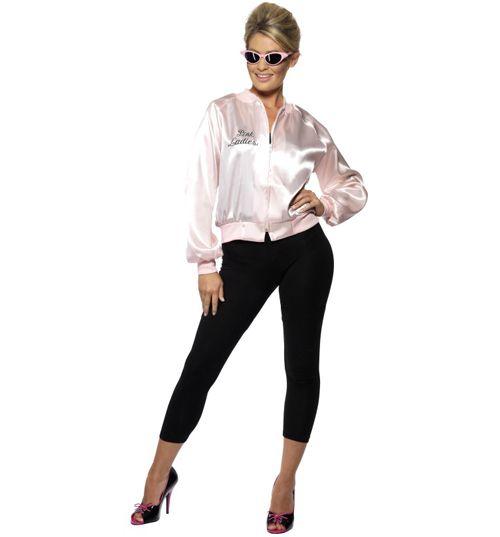 Ladies Pink Lady Grease Jacket