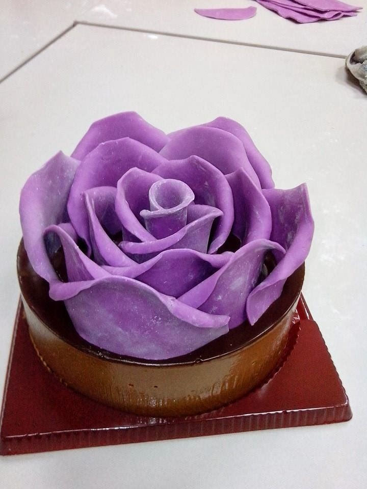 Shine Kids Crafts: 3D Big Rose Cake | Rose cake, Cake ...