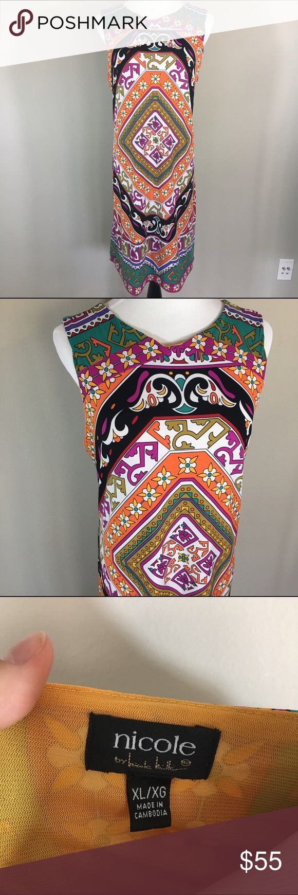 Black Friday Sale! Nicole Miller Print Shift Dress Coming soon Nicole by Nicole Miller Dresses