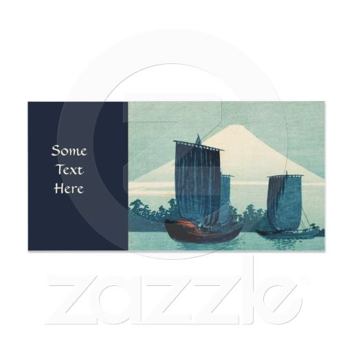 Sailboats and Mount Fuji Photo Card