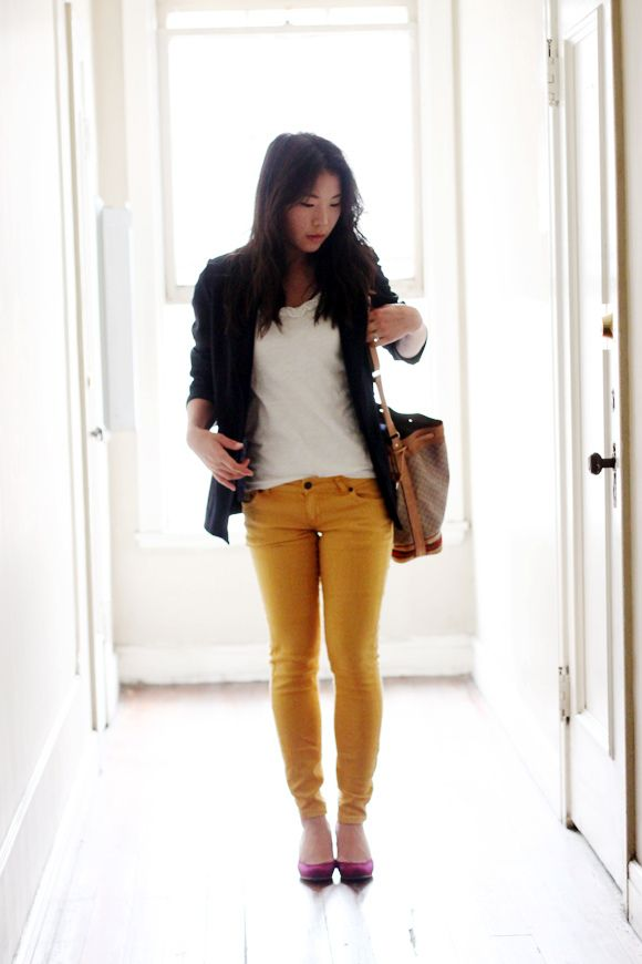 why is it just occurring to me that I have yet to own mustard yellow pants?!