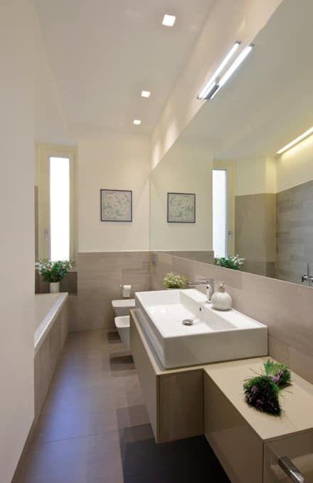 """minimal """"in stile"""": Bagno in stile in stile Minimalista di studio ferlazzo natoli"""
