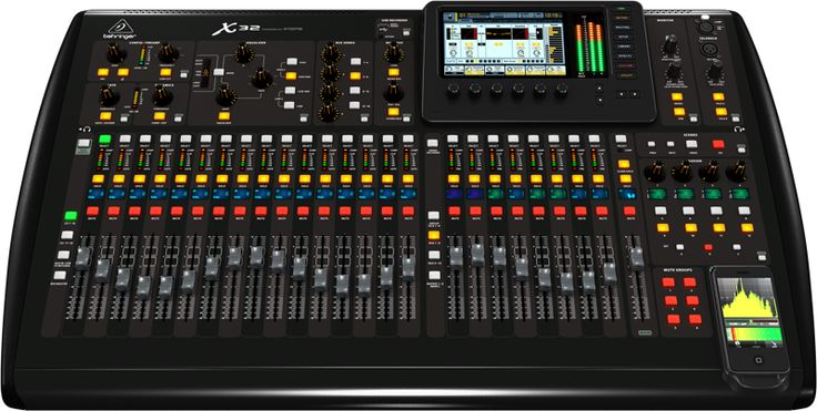 Behringer X32 digital mixing console.
