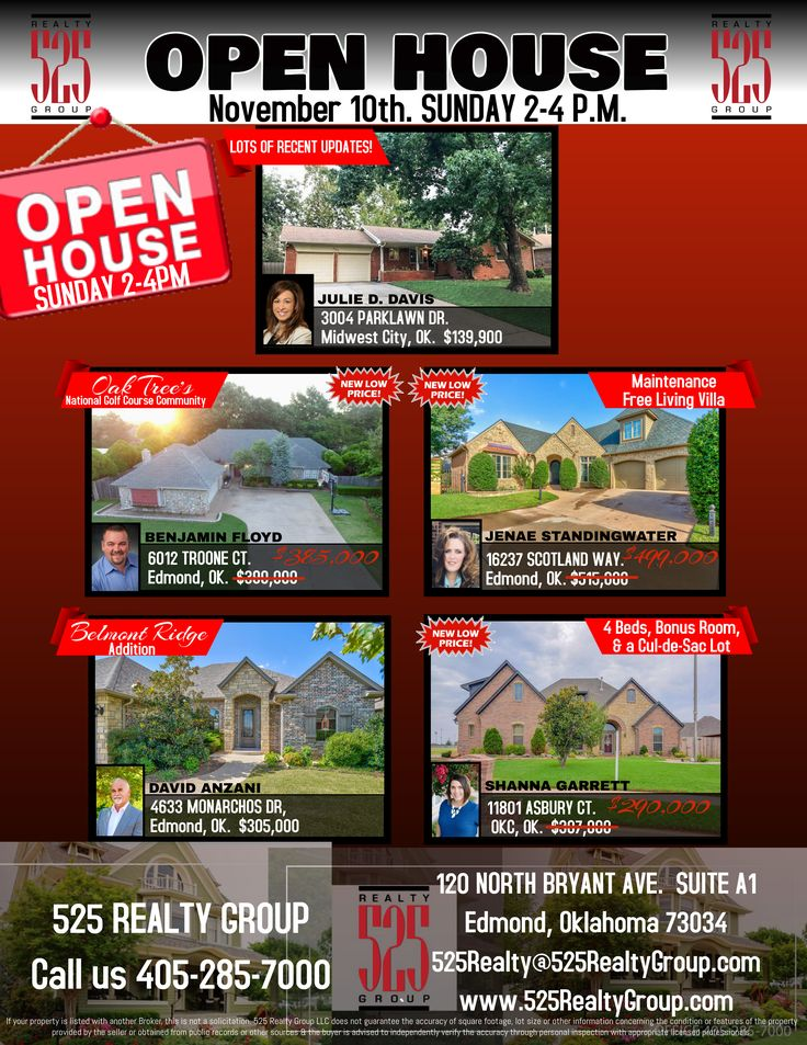 Homes for Sale in Edmond Oklahoma Open house, Midwest